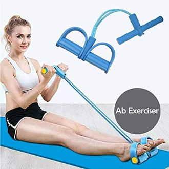 2 Latex tubes Pull Reducer Resistance Tummy Trimmer