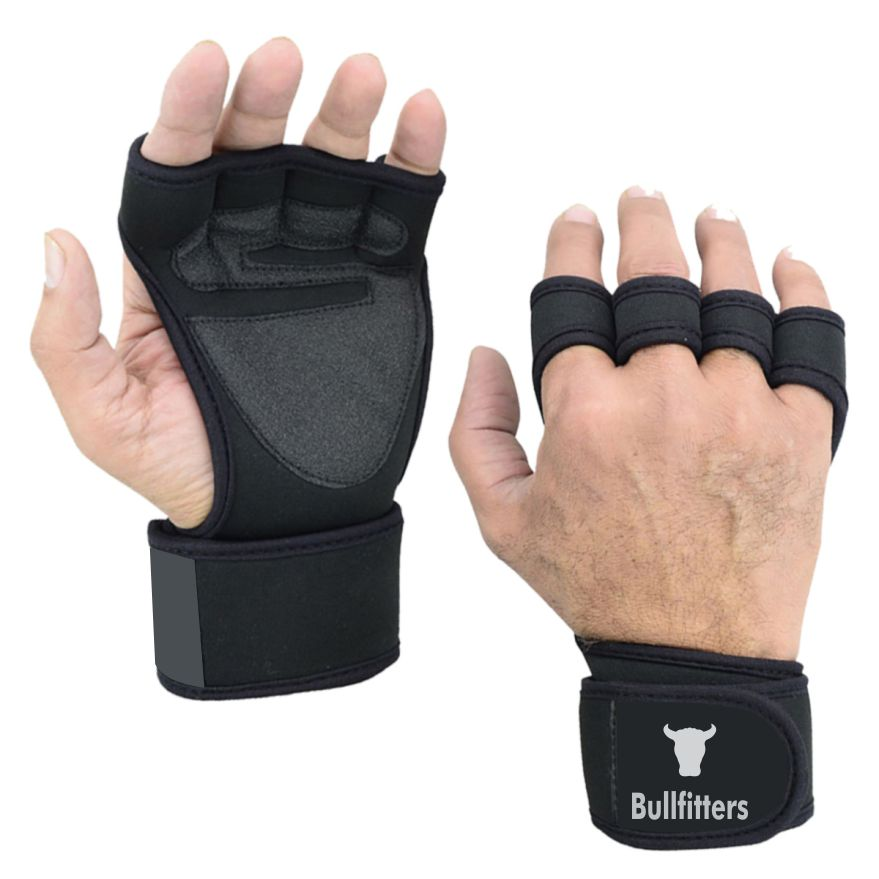Bullfitters New Arrival Weight Lifting Gloves for Workout, Weightlifting Gym Cross Training Pull Ups Weight Lifting Workout Gloves with Built-in Wrist Wraps for Men and Women - Great for Gym Fitness, Cross Training, Hand Support & Weightlifting