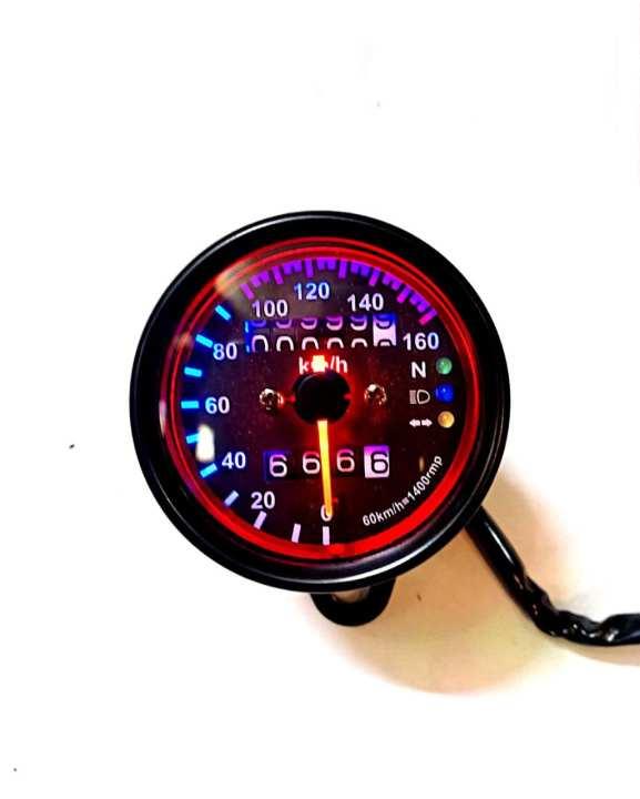 Matte Black - Fancy Meter for Motorcycle