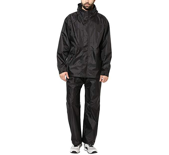 7d7e84a247d1 Men s PVC 100% Waterproof Super Soft Durable Bikers Rain Jacket and Pant