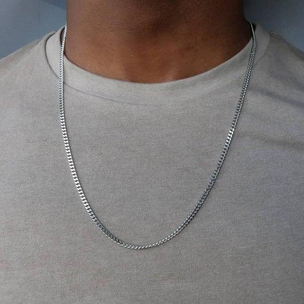 THIN SILVER TRENDY neck chain THIN SILVER AMERICAN TRENDY neck chain