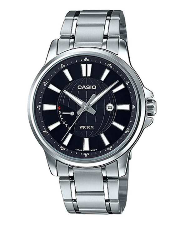 Casio - MTP-E137D-1AVDF - Stainless Steel Watch for Men