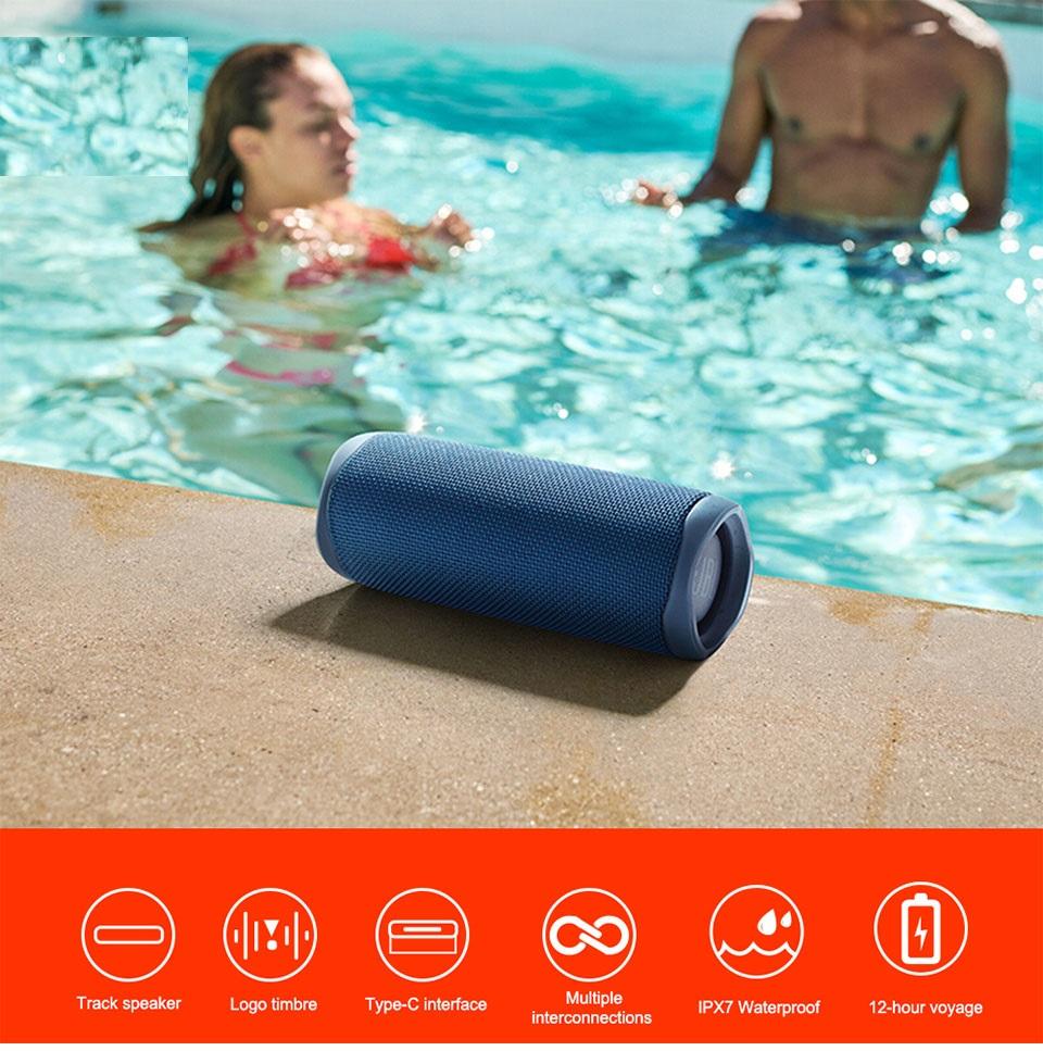 Mini Bluetooth Speaker Portable Wireless Speaker Sound System 3D Stereo Music Surround sound bar Waterproof Portable Bluetooth Speaker (Black)