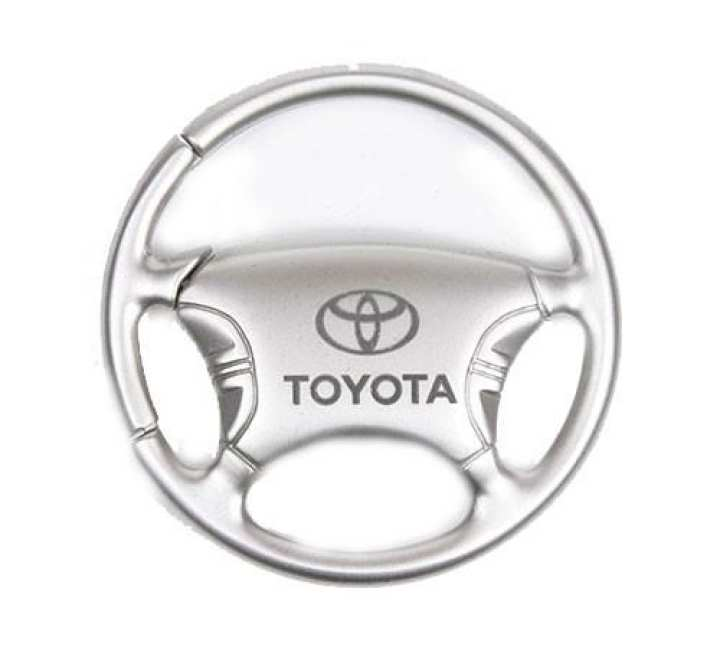 High Quality Steel Toyota Keychain & Keyring - Steering Wheel