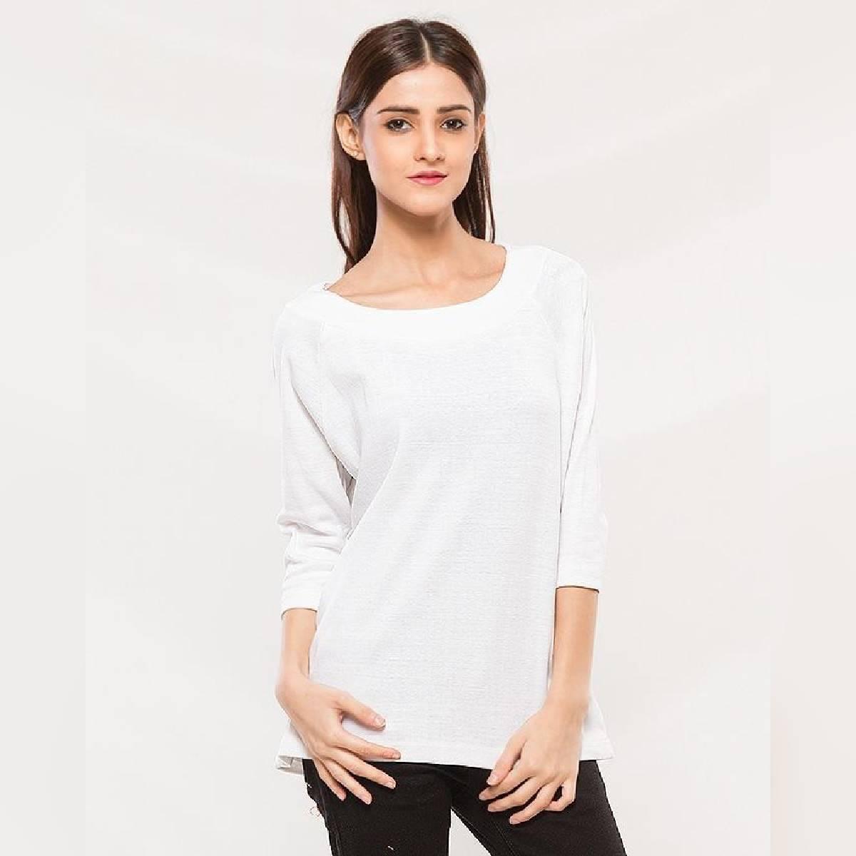 White Cotton Shirt For Women
