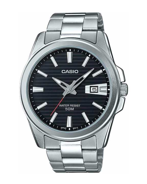 Casio - MTP-E127D-1AVDF - Stainless Steel Watch for Men