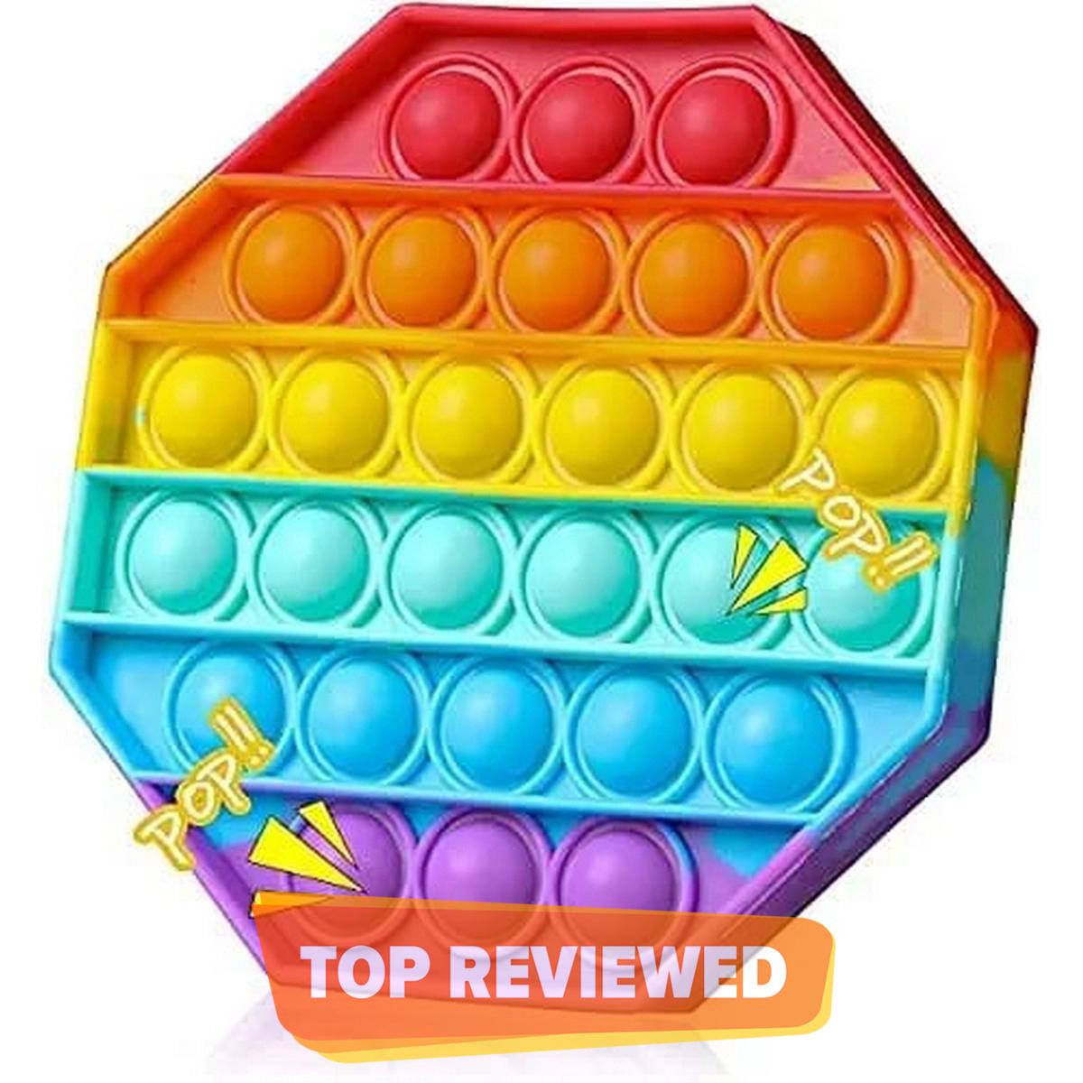 POP Toy Bubble Squeeze Sensory Fidget Toy Pop It Figit Toy Fidget Toys Special Needs Stress Reliever, Push Bubble Gadgets