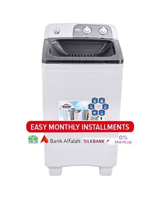 Boss K.e-4000 Single Washing Machine - New-bs- Grey & Black Top Cover