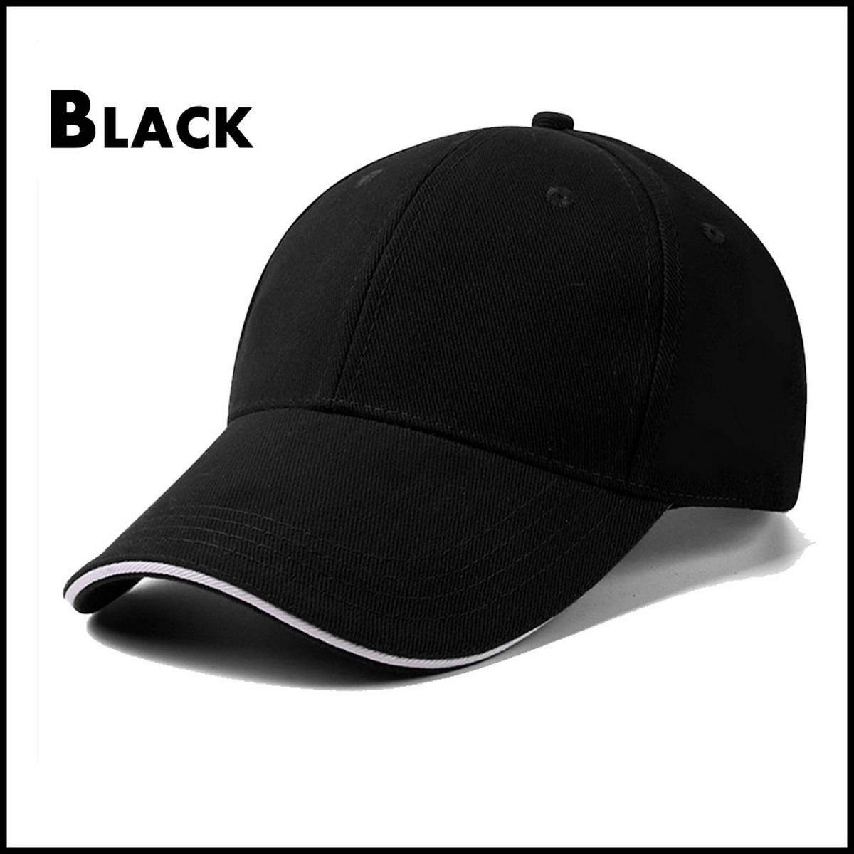 Adults Cap with Curved Brim with Adjustable Strap and Buckle