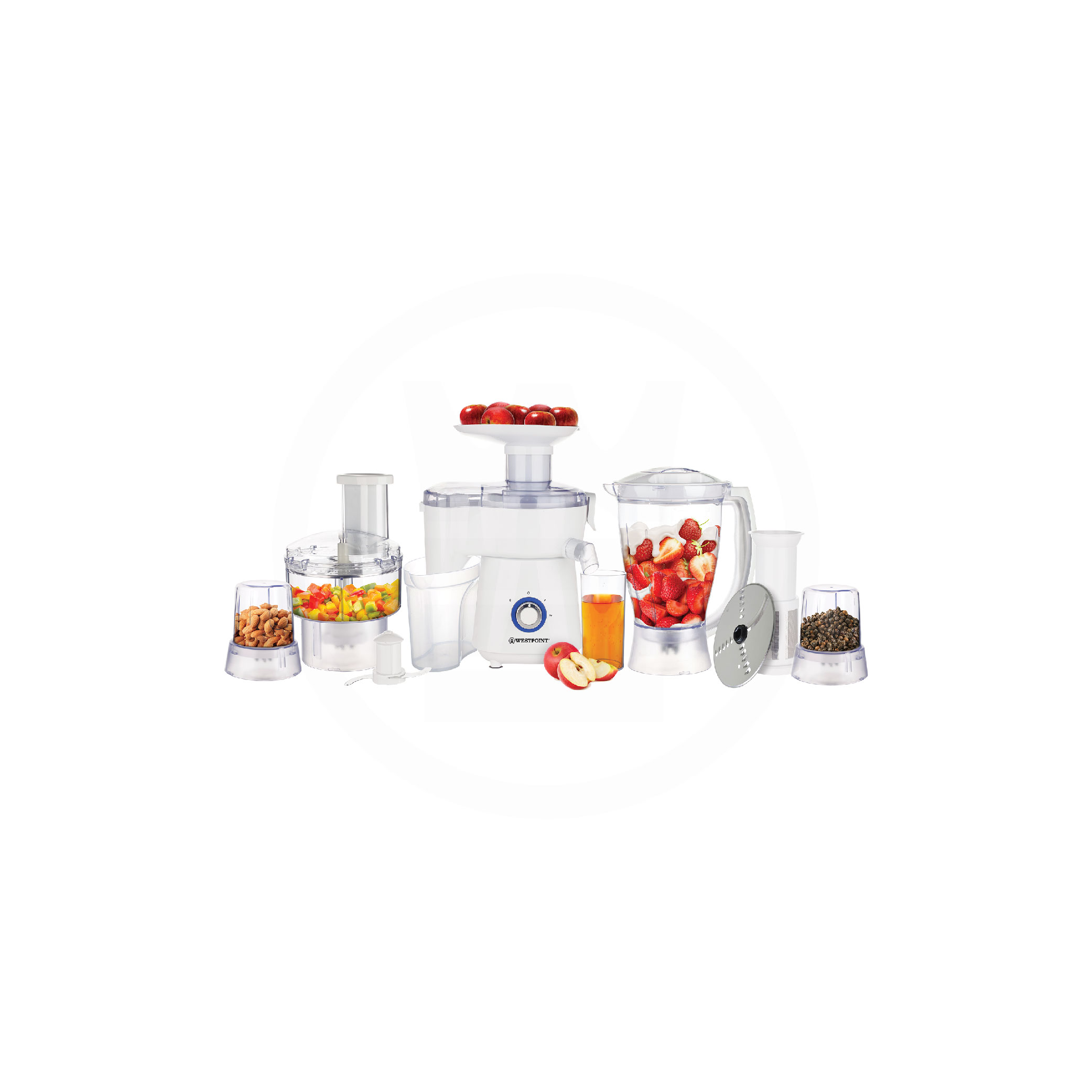 Westpoint Wf-2805 - 5 In 1 Jumbo Food Factory With Extra Grinder - White