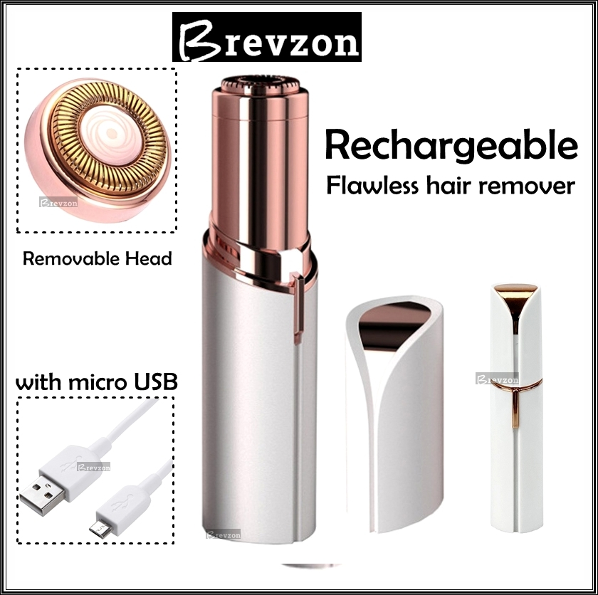Flawless hair remover - Rechargeable - Facial hair remover, with USB charging cable - LED light   Eyebrow Trimmer - Mini Shaver epilator for women - Hair Remover