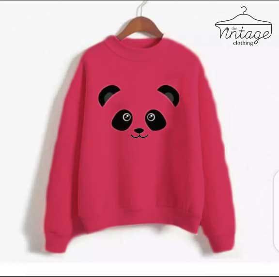 Pink printed sweatshirt for women