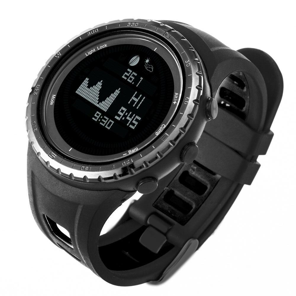 Life Eraser Multifunction Fishing Watch FR830-5ATM Digital Compass  Altimeter Barometer Thermometer Air Pressure Trend and Altitude