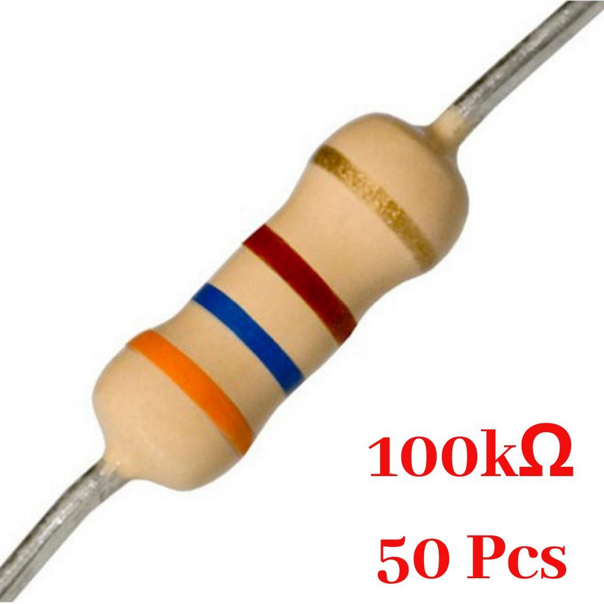 50 Pcs- 100K Ohm resistor
