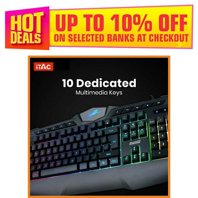 Gaming Keyboard RGB Mechanical Feeling - Wired Keyboard gaming for mobile pubg gamor Laptop PC Game - 112 Keycaps