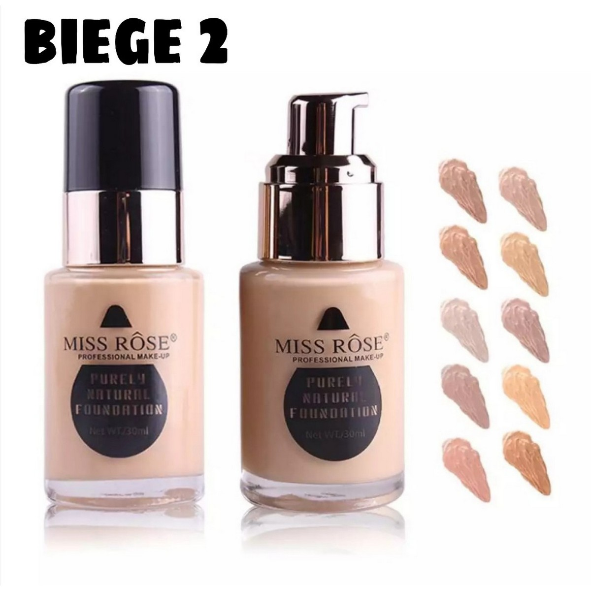Makeup Cover Foundation Miss Rose - Shade Light