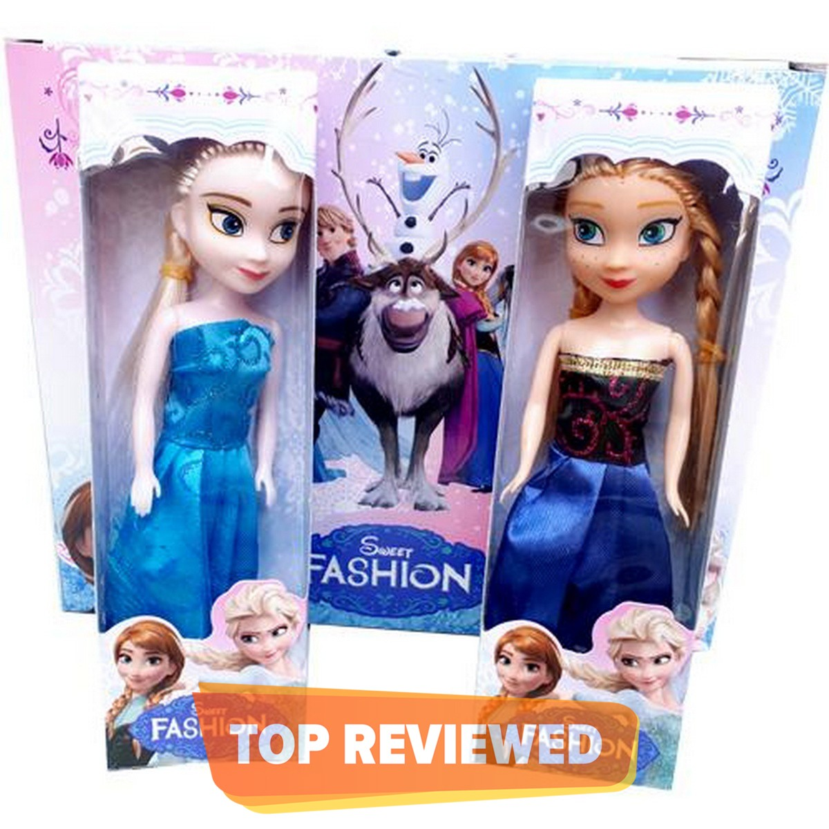 Pack of 2 Dolls Anna Elsa