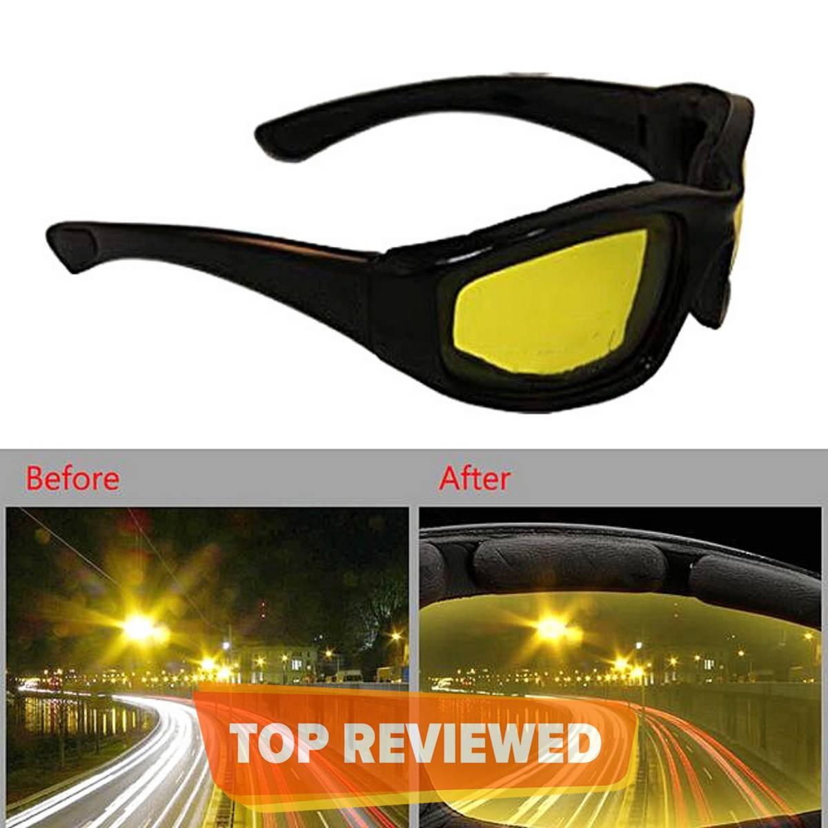 Day Night Vision Polarizing glasses Bike, Car Drivers Anti Glare Polarized UV Protection, HD Night Driving Unisex Sunglasses Goggles Auto Accessories
