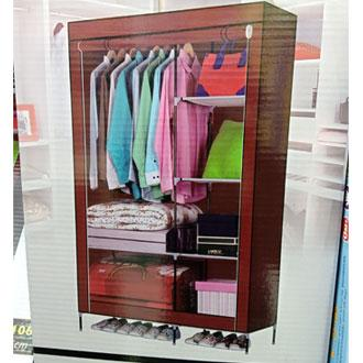 b347be017391 Canvas Wardrobe With Protective Cover 175cm Height
