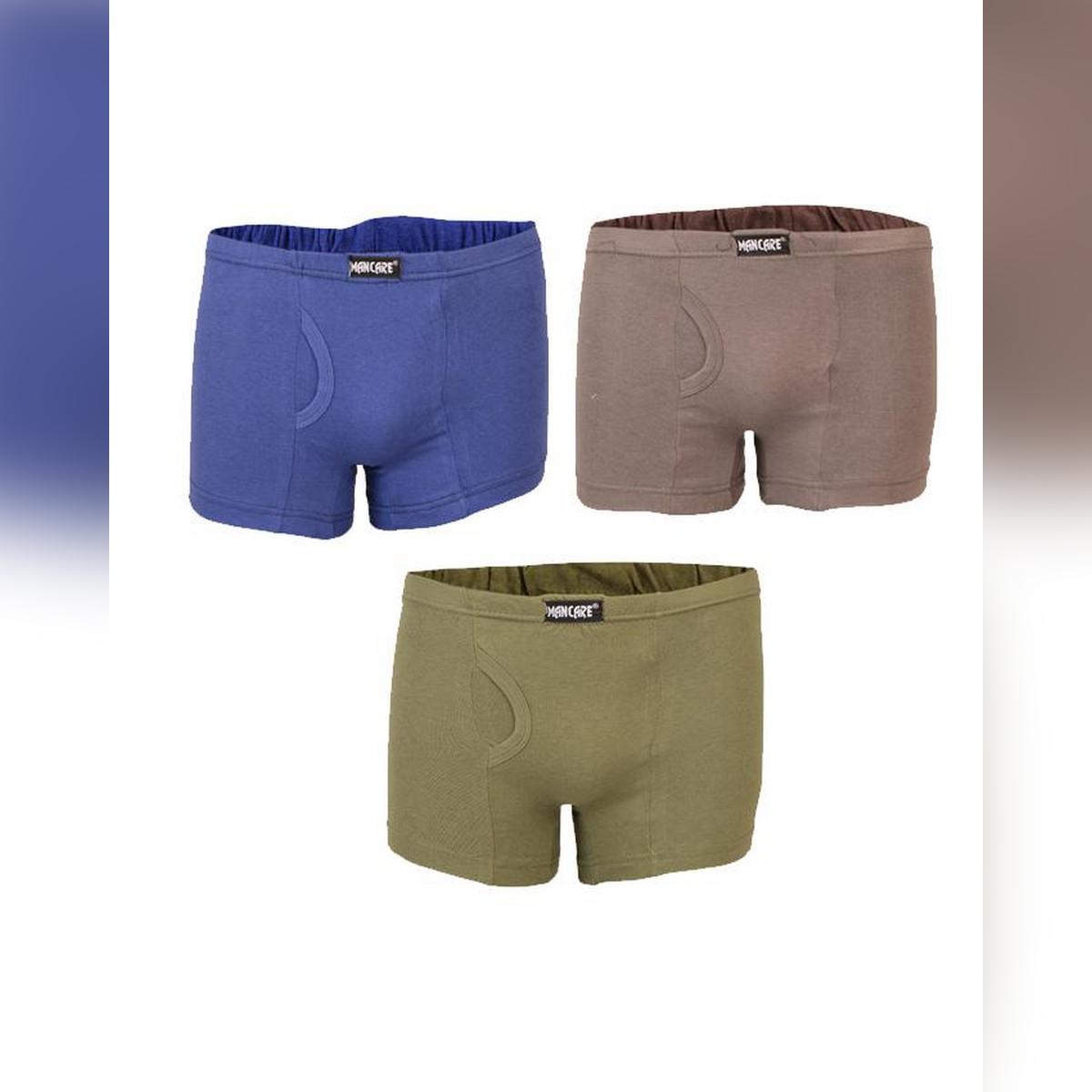 Mancare Pack of 3 Pure Cotton Underwear for Men - Multicolour