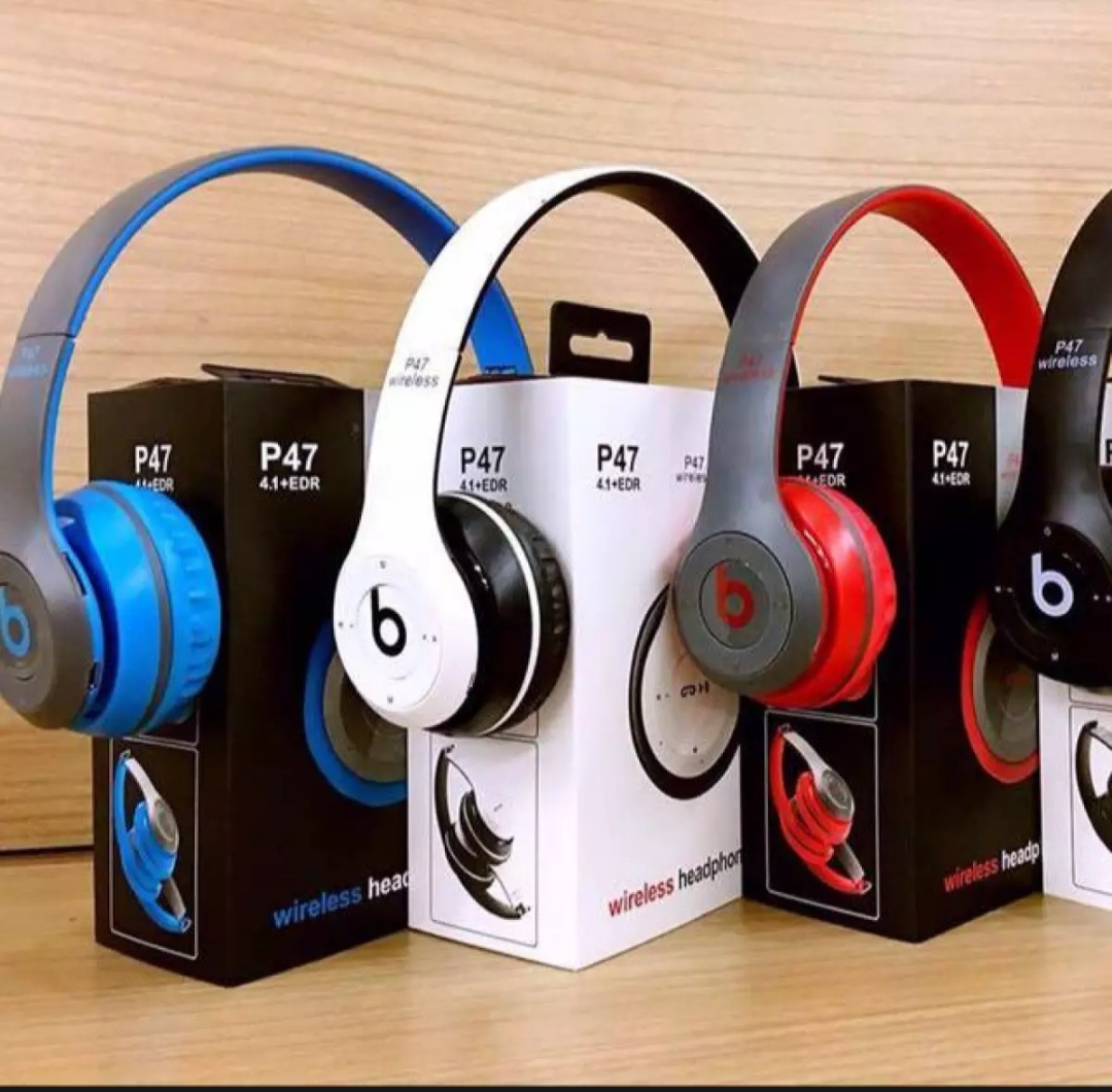P47 Wireless Bluetooth Headphones Latest 4.2+EDR with Mic Stereo Headset Supports FM Radio / TF Card / AUX Cable