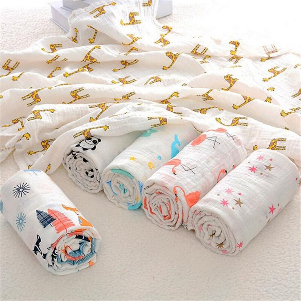 High Quality Baby Blanket Double-Layer Swaddle Blanket ,Cotton Soft Unisex Swaddle Wrap Cloth Stroller Cover, Baby Swaddle Wrap newborn for summer and winter Baby Swaddle Wrapping Sheet Baby Swaddles, baby blanket for boys, baby blanket for girls