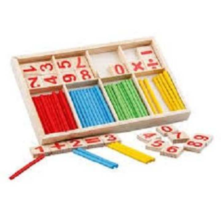 Children Count Stick Math Number Counting Sticks Kindergarten Teaching Aids multicolor