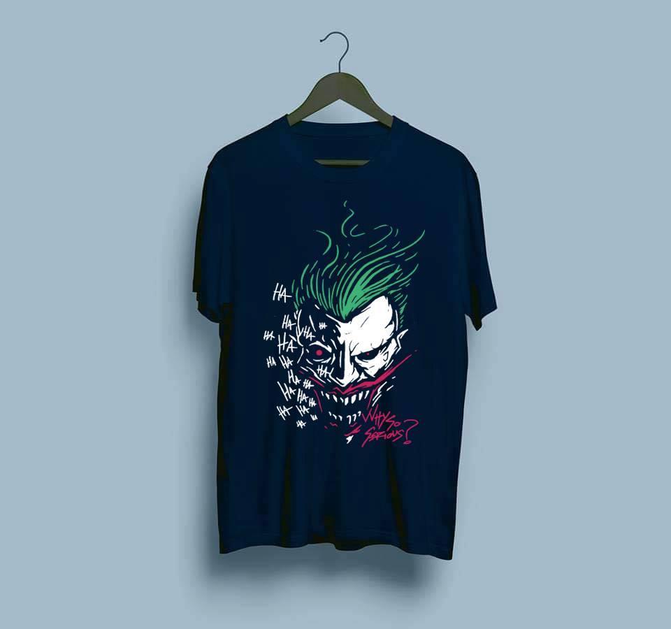 97b121012 Crazy Joker 100% Cotton Round-necked Half Sleeves Men's Printed T shirt