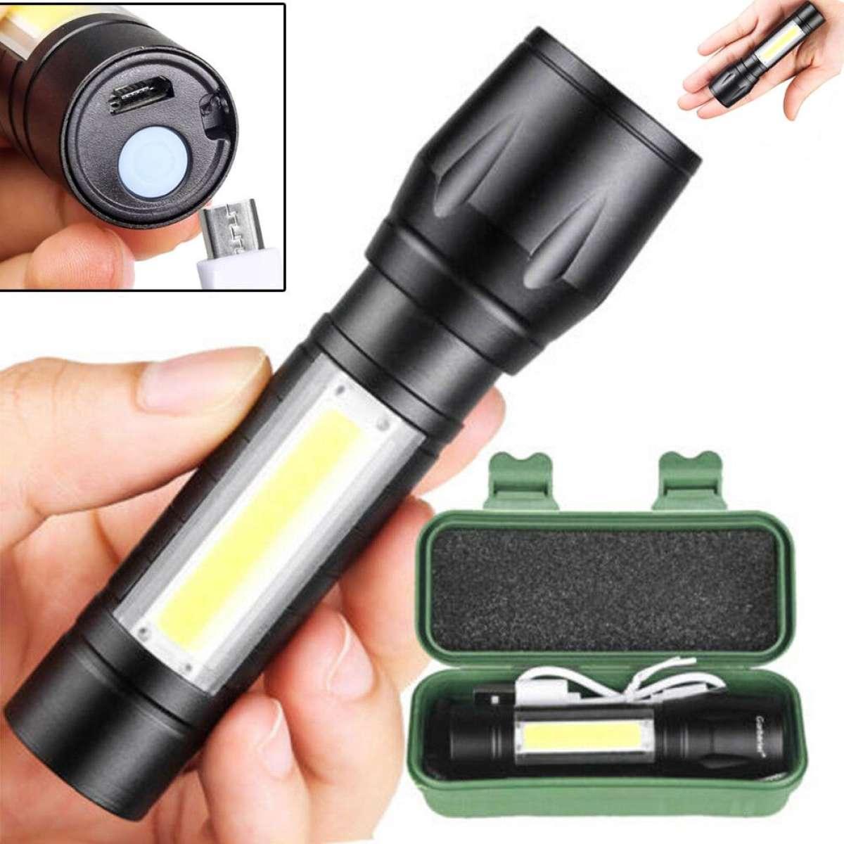 Zoomable Mini Led Flash Light Aluminum Pen Torch Emergency Penlight Cob Flashlight