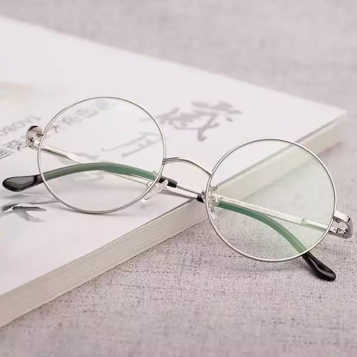 Silver Metal Frame Round Harry Potter Glasses for Girls