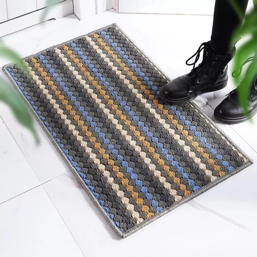 Thick Pile Bed Side Rug - slightly bigger, Shaggy Soft Thick Modern Design High Pile Floor Carpet entrance mat, bath mat door mat
