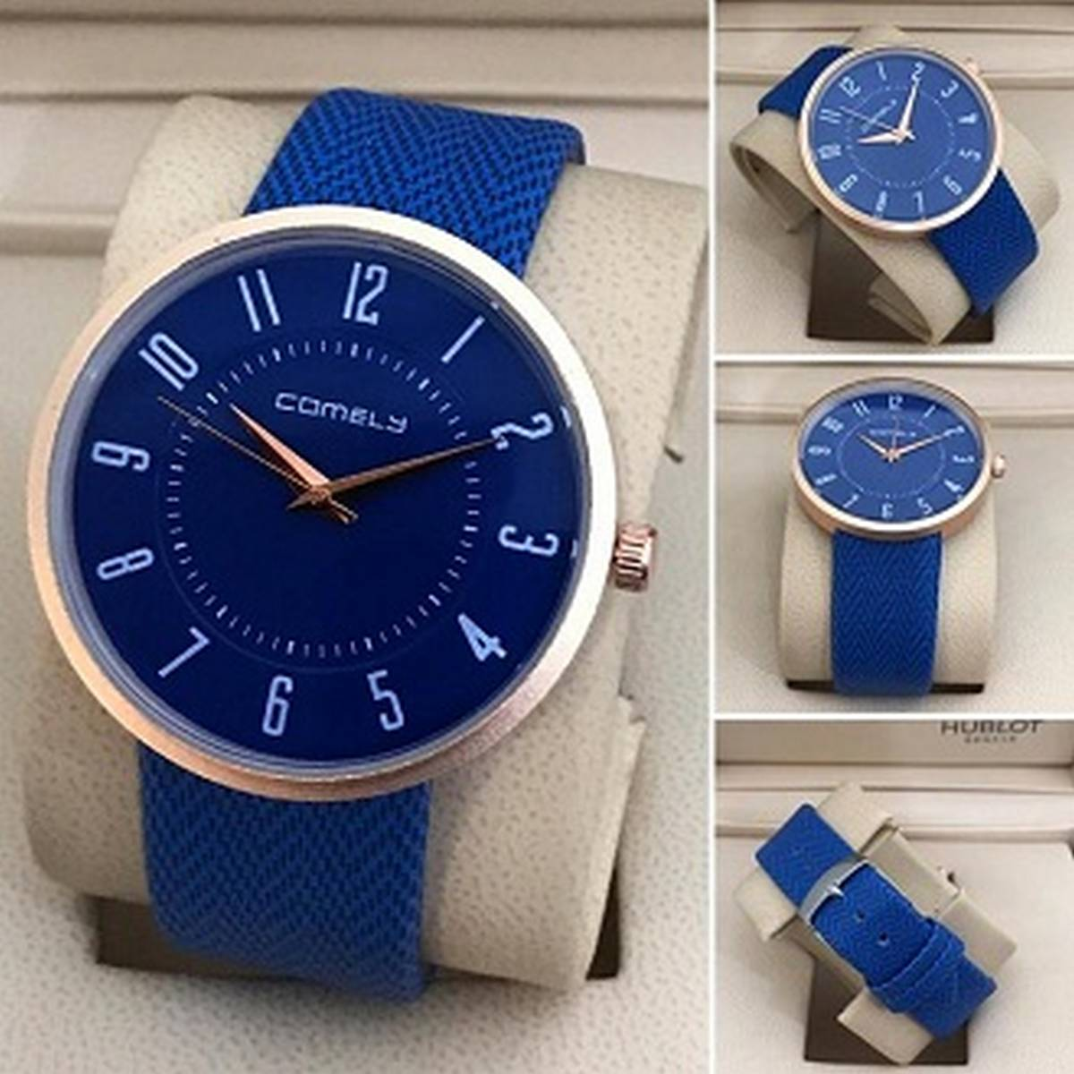 Comely Gents Round Dial Leather Strap Casual Watch for Man SMART Quartz Watches for Boys & Men New Fashion Wrist watch for Casual And Party Wear and Gifts WH006