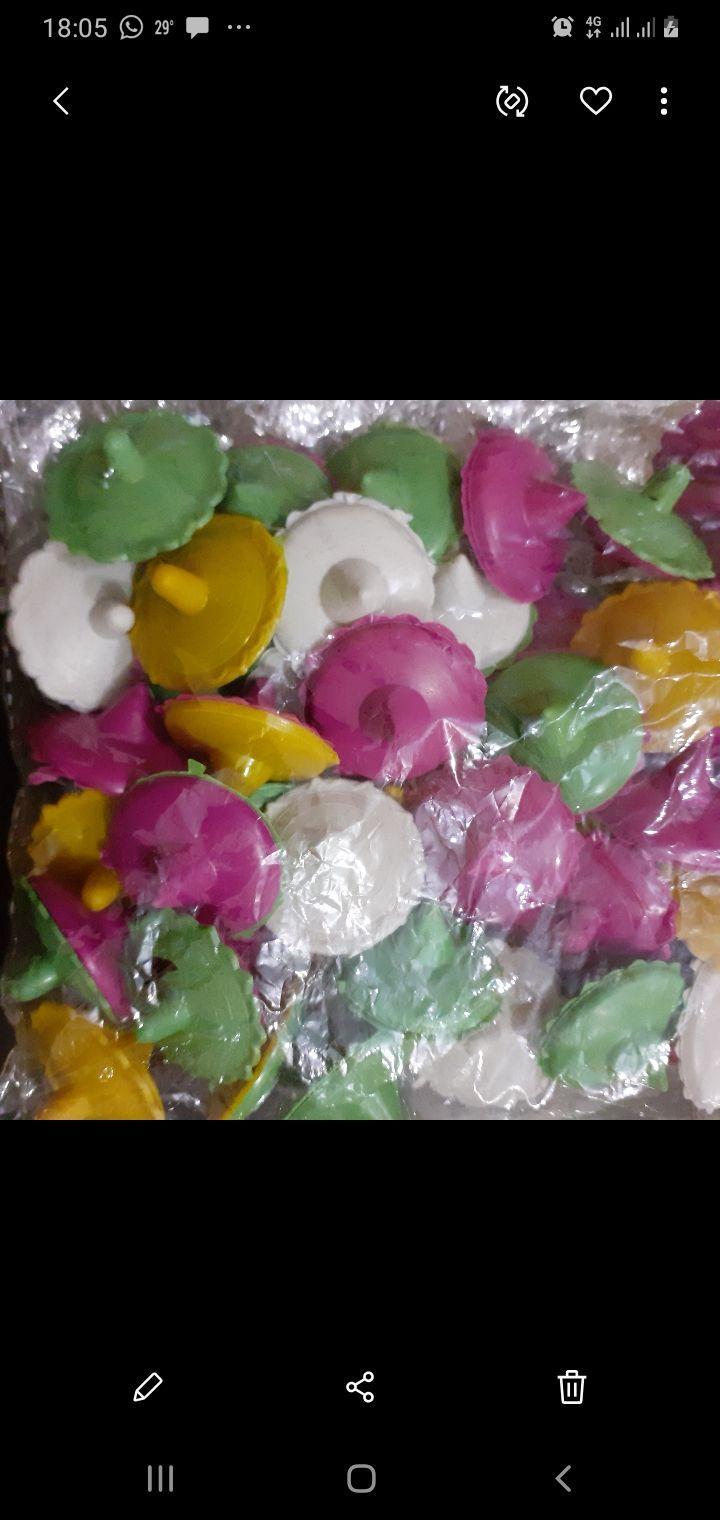 Children Toy Lattu Plastic Material Different Colors 50 pieces