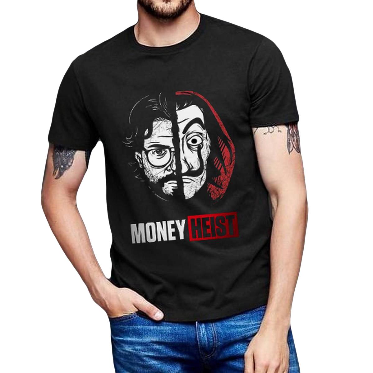 Money Heist Printed Summer T Shirts for Men
