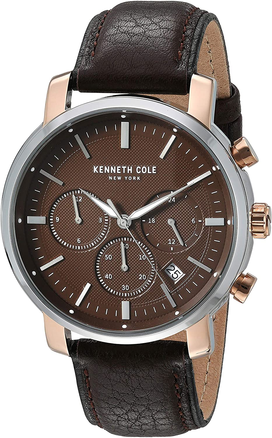 Kenneth Cole New York - KC50775003 - Stainless Steel Wrist Watch for Men