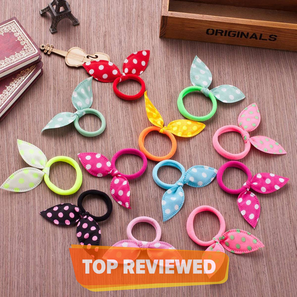 10Pcs Candy Color Elastic Headband Bow Hair Rubber Bands For Girl Kid Ponytail