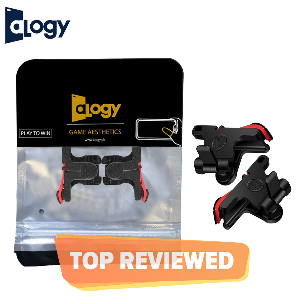 ALOGY D9 Pubg/Fortnite/ Rules of Survival Support Buttons Mobile Controller L1R1 Trigger Tragger Triger Android and iOS