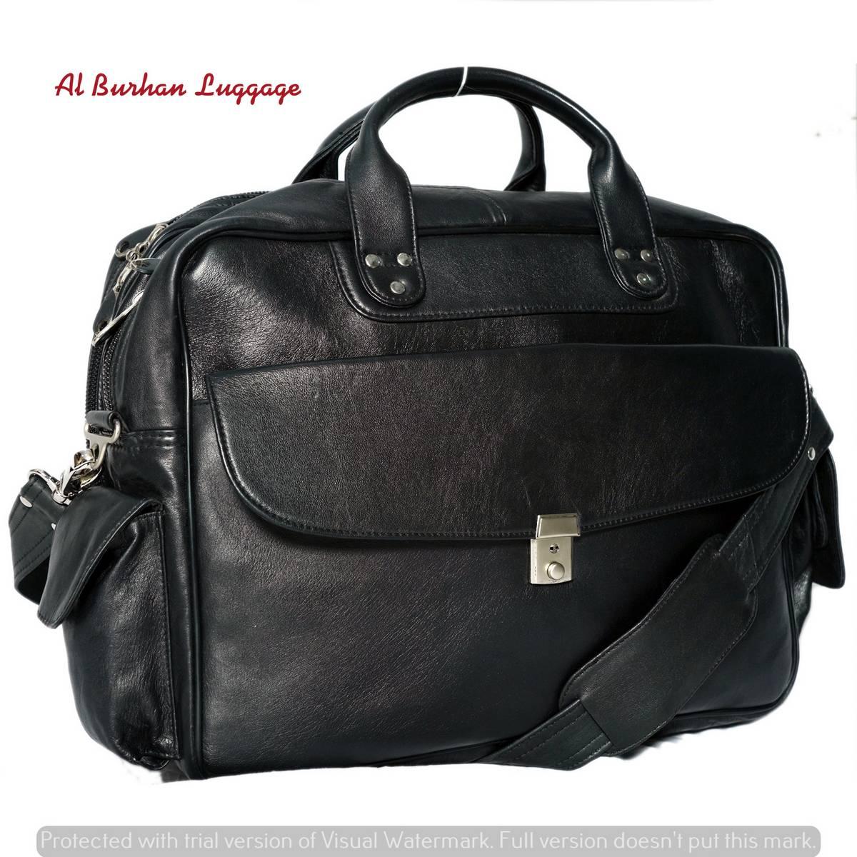 Genuine Leather Business Messenger Women Men Bag, Tote Briefcase For Documents A4, Shoulder Handbag Male Female Laptop Brief Case - BLACK