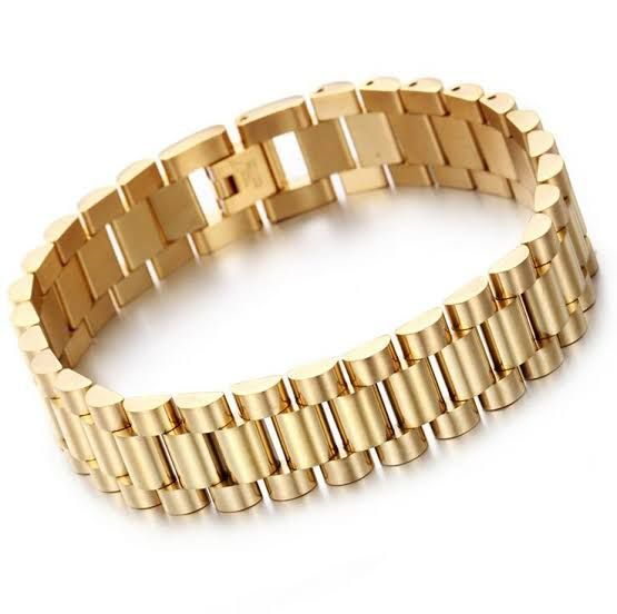 High quality alloy watch strap style classy golden hand chain for men