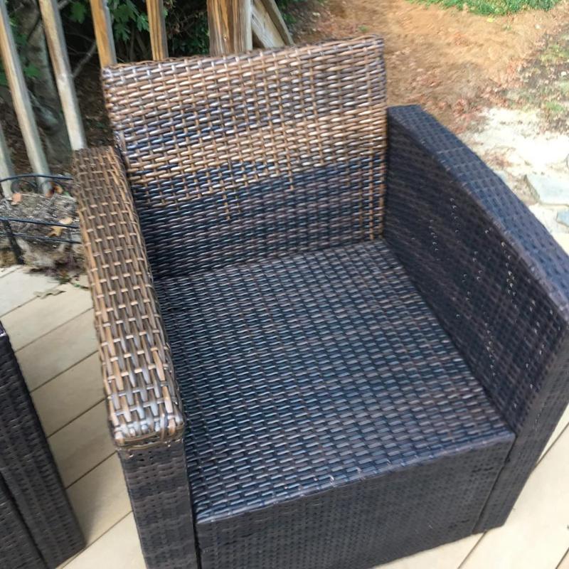 Brown Coffee Grant Flat Synthetic, Plastic Wicker Patio Furniture Repair