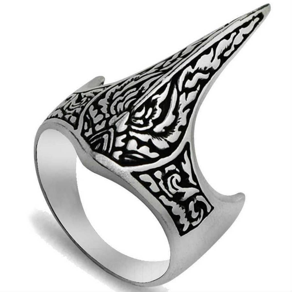 Ertugrul IYI Tribe Thumb Ring For Men  Kayi Clothing Ertugrul Bey Archery Thumb Ring  Kayi Clothing  Ertugrul Ring Kayi Dirilis IYI Kurulus Osman Thumb Silver Men IYI Dirilis Ertugrul Symbol Kayi Tribe Ring Handmade Men Jewelry Solid 925 Sterling Silver