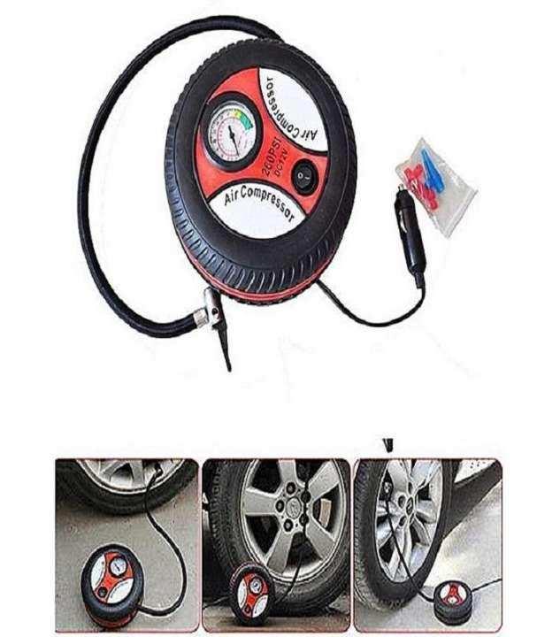 Tyre Shape Air Compressor - Black
