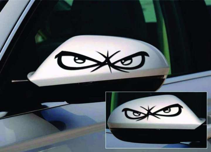 PVC car side mirror sticker good looking high quality pack of 2