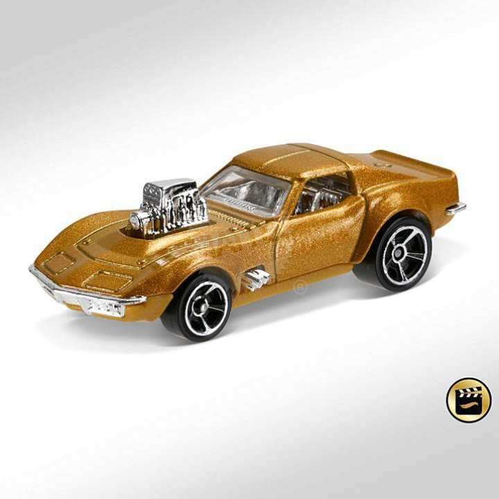 Hot Wheel Metal Racing Toy Car '68 Corvette - Gas Monkey Garage (New Casting!)