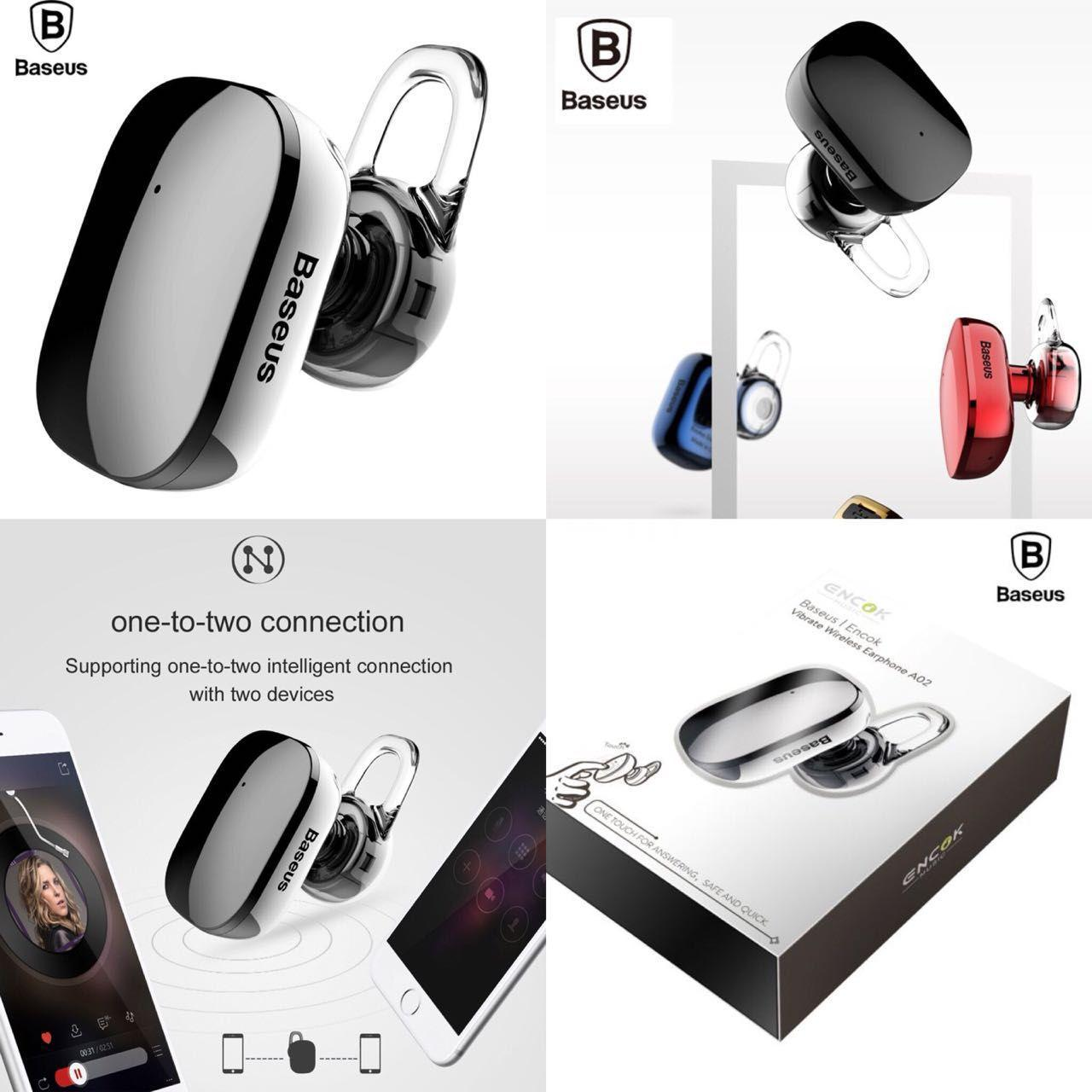 eedc65cd461 Bluetooth Earphone,Baseus A02 Wireless Bluetooth Earbud with Microphone  Hand Free Calling and In-