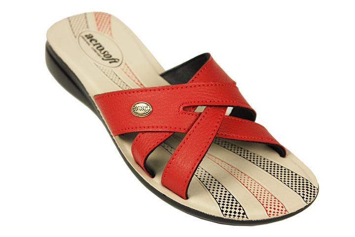Aerosoft Synthetic Leather Slippers For Women C2011