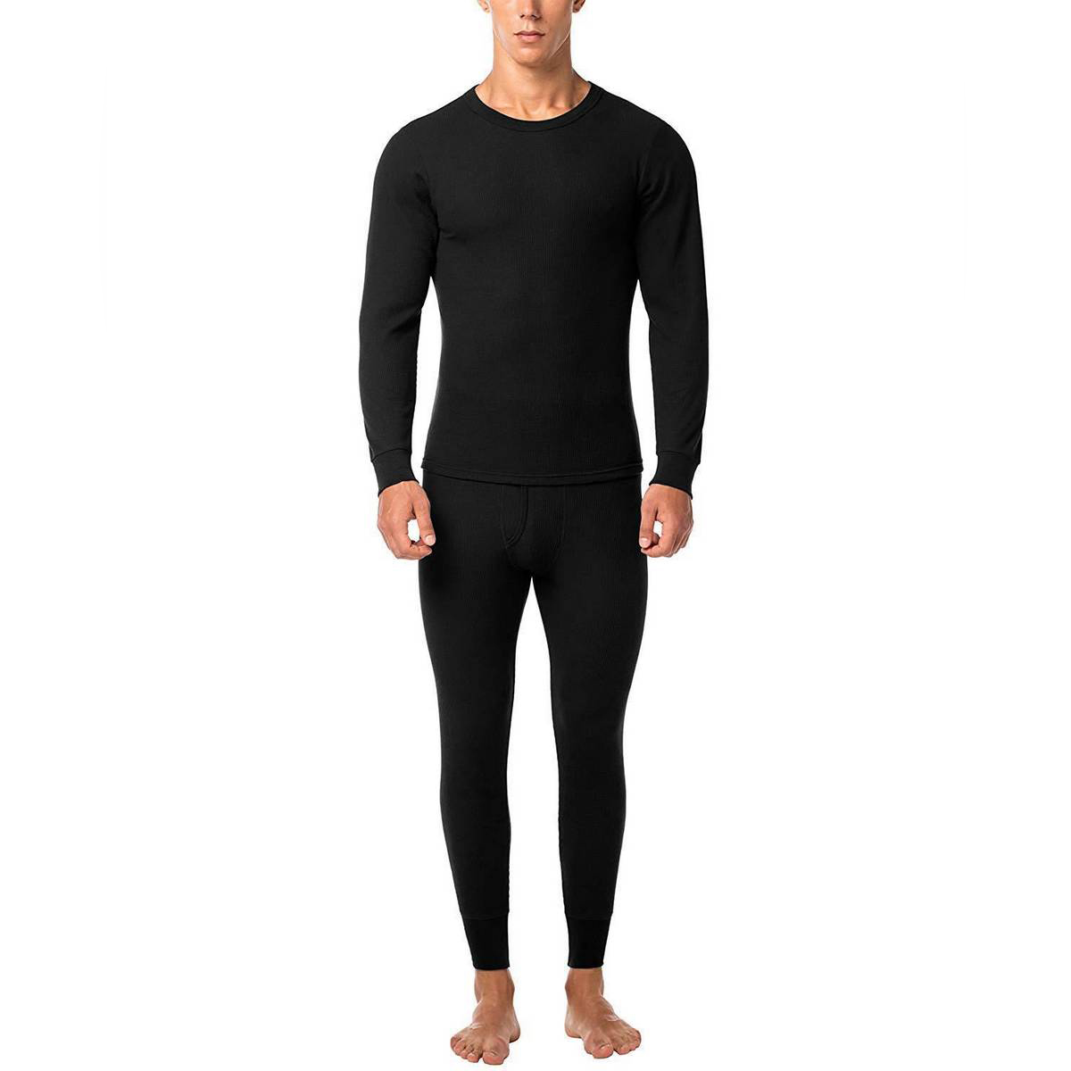 Two pieces set full body Black Thermal Suit &Winter warmer and Pajama and full bazoo for unisex