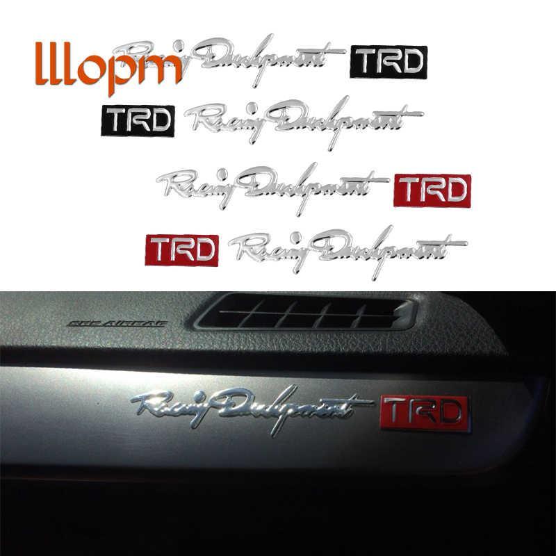 2pcs Car Styling Trd Car Sticker Reflective Auto Car Handle Door Knob Sticker Black