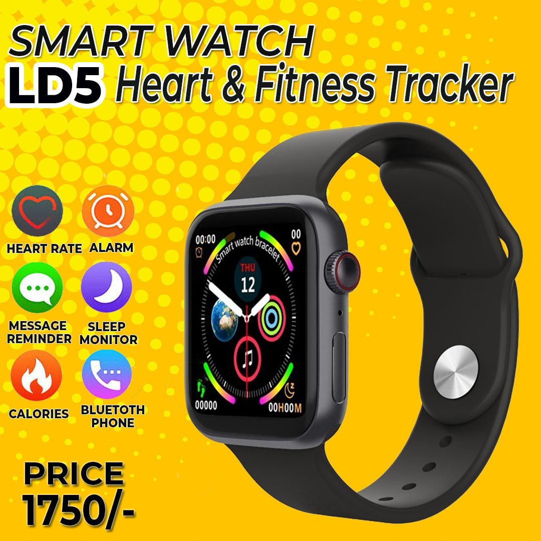2021 New Model Ld5 Smart Watch Heart Rate Monitor Fitness Tracker BT Make Calls