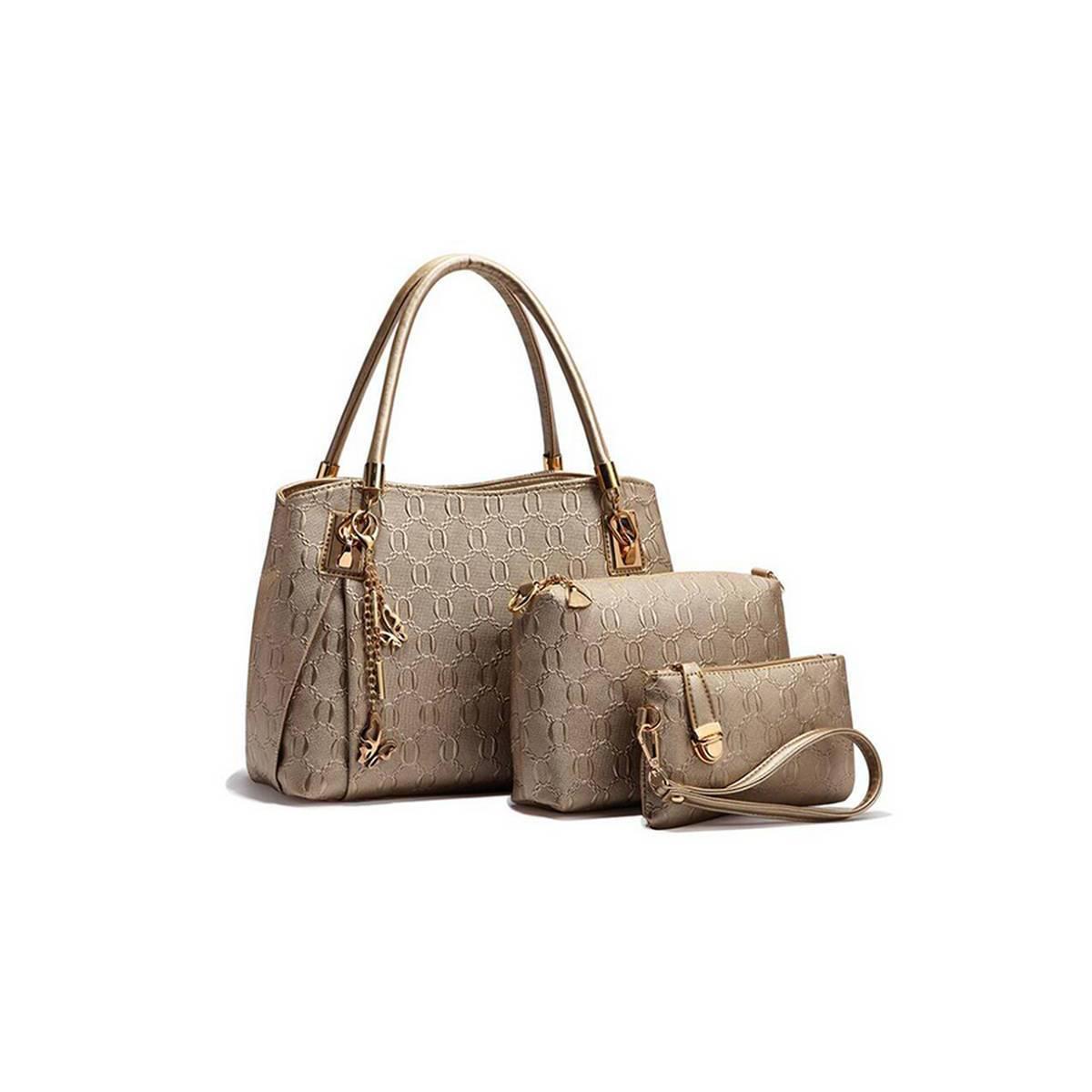 Best Selling 3 PCS PU Leather Hand Bag Set